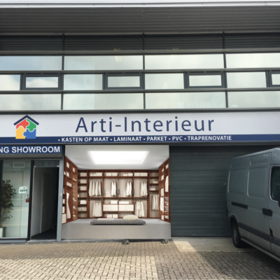 De showroom van Arti-Interieur is gesloten