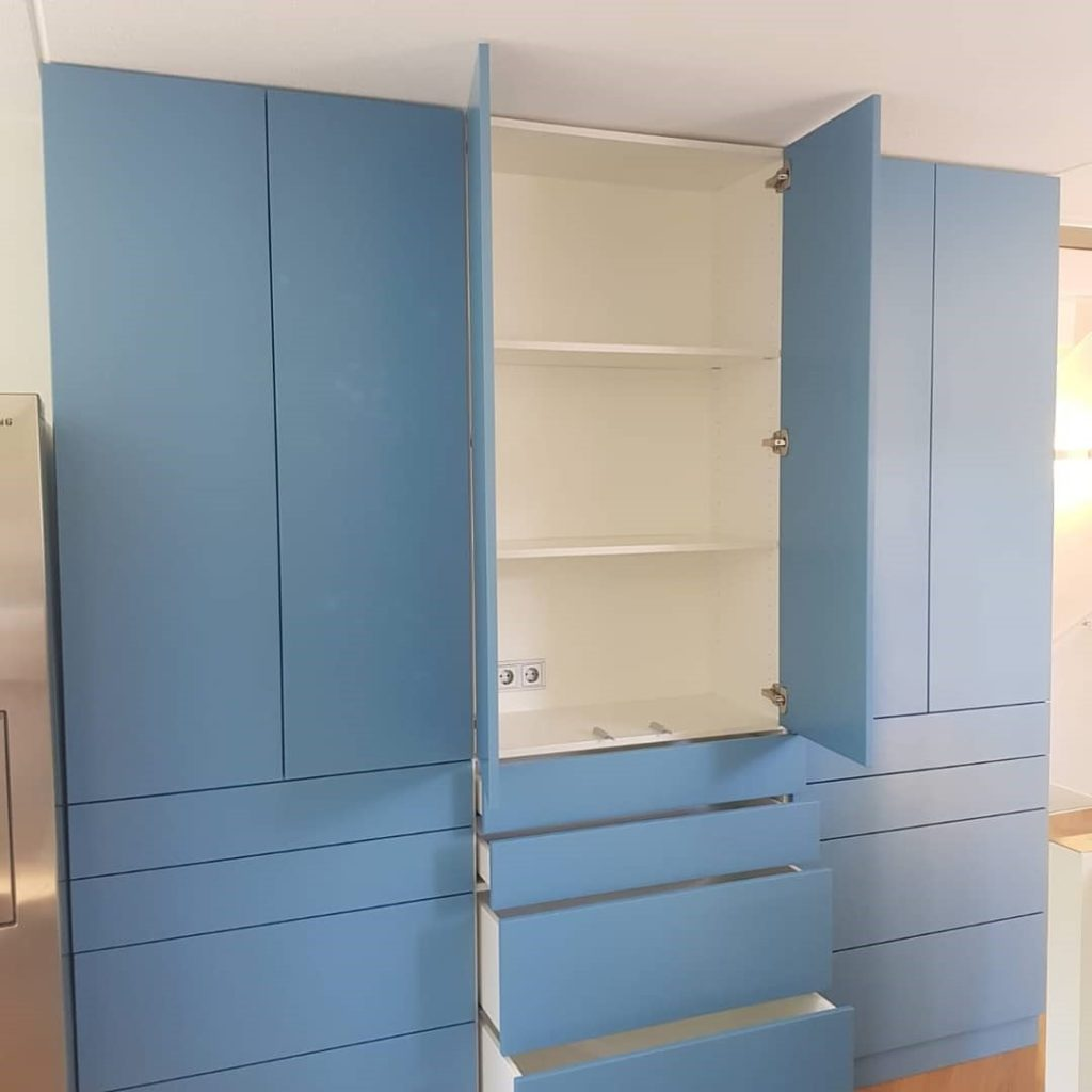 Maatwerk Keukenkast blauw