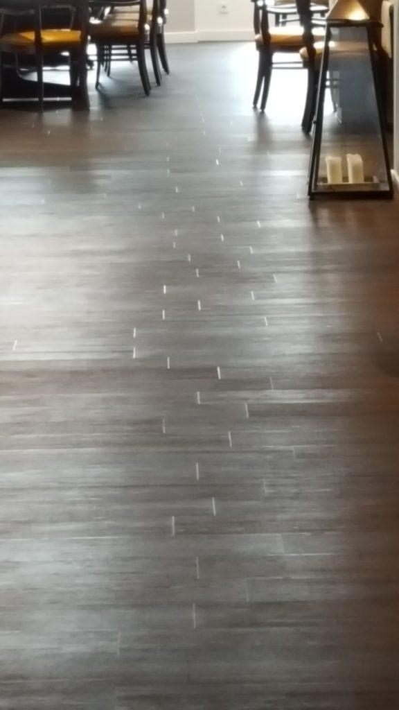 PVC vloer gelegd in een restaurant