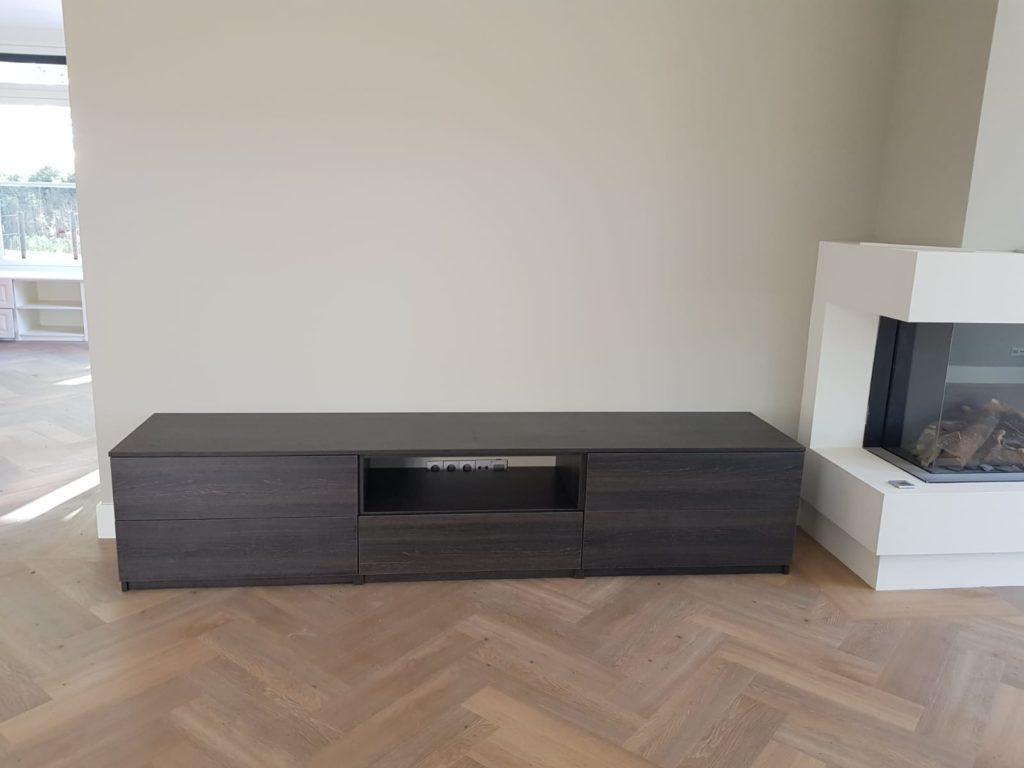 TV meubel eiken zwart
