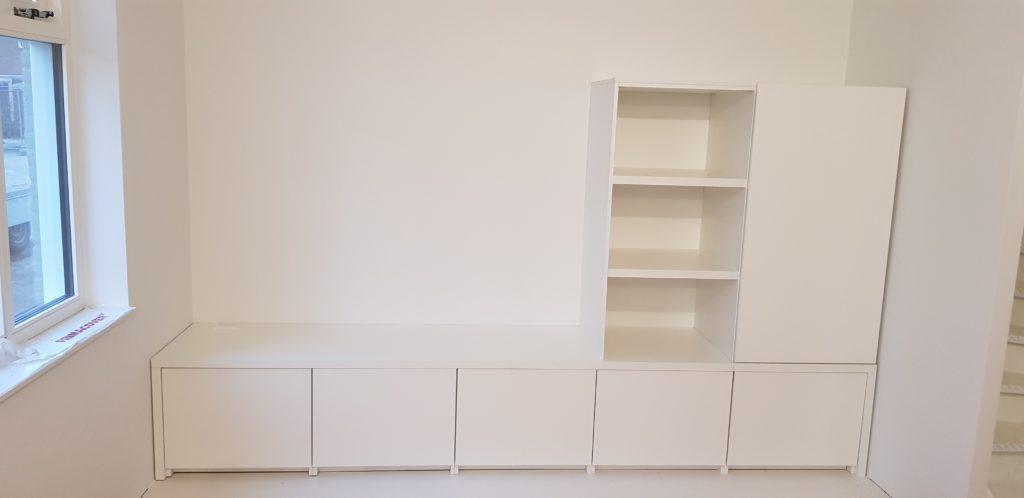Maatwerk keukenkast met ruimte om te zitten