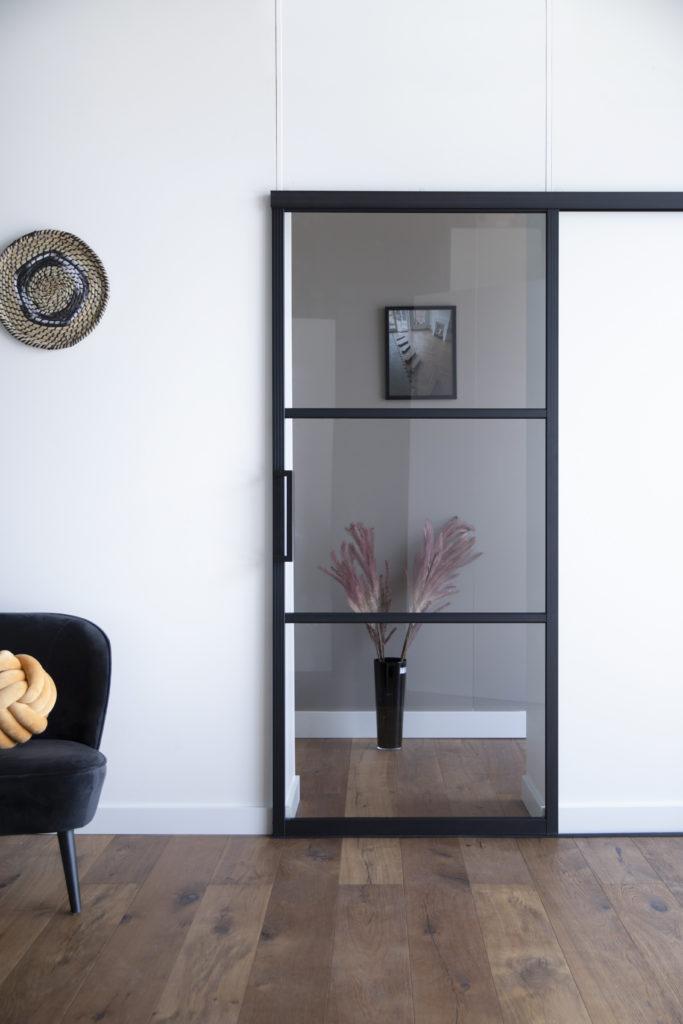 ML3 Rookglas boven en onderrails met deurgreep