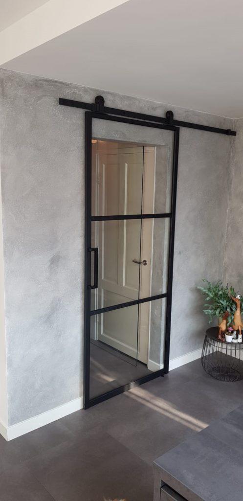 Metallook deur ML3 met schuifdeurbeslag recht