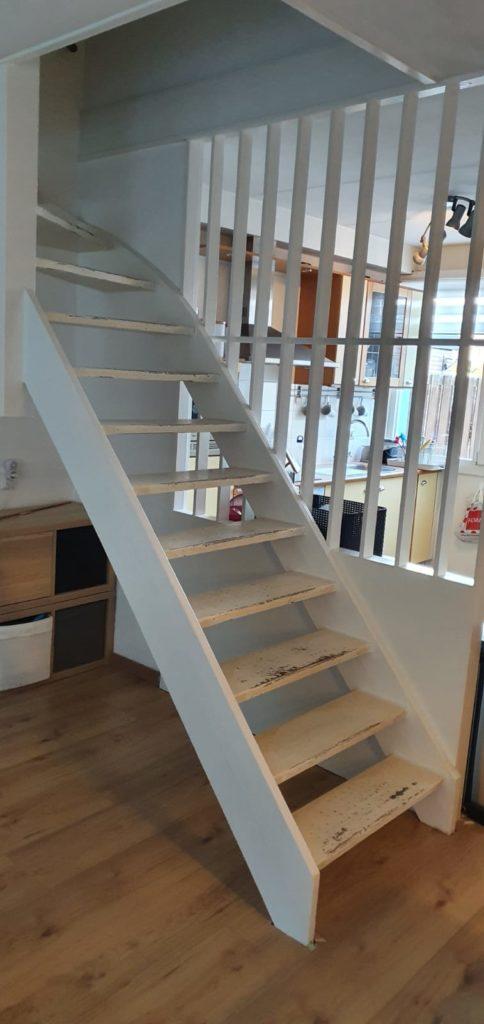 Open trap voor traprenovatie